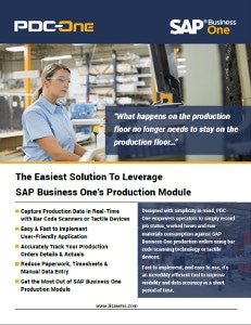 PDC-One production module for SAP Business One